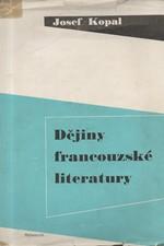 Kopal: Dějiny francouzské literatury, 1949