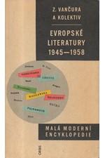 Vančura: Evropské literatury 1945-1958, 1959