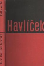 Havlíček Borovský: Kniha veršů, 1934