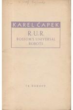 Čapek: R. U. R. : Rossum's Universal Robots, 1940