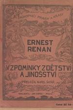 Renan: Vzpomínky z dětství a jinošství, 1925