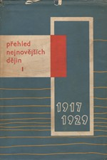 Hájek: Přehled nejnovějších dějin : 1917-1939. I., 1917-1929, 1962