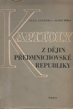 Jandera: Kapitoly z dějin předmnichovské republiky, 1953