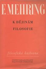 Mehring: K dějinám filosofie, 1959