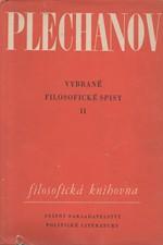 Plechanov: Vybrané filosofické spisy, svazek 2., 1960