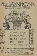 Gomperz: Staroionští filosofové přírodní, 1911