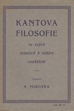 Vorovka: Kantova filosofie ve svých vztazích k vědám exaktním, 1924