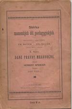 Spencer: Dané pravdy mravoučné, 1895