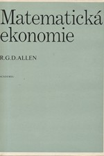 Allen: Matematická ekonomie, 1971
