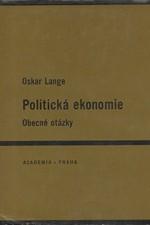 Lange: Politická ekonomie : Obecné otázky, 1966