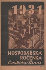 : Hospodářská ročenka Českého slova. 1931, 1931