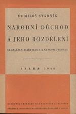 Stádník: Národní důchod a jeho rozdělení se zvláštním zřetelem k Československu, 1946