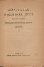 : Zásady a cíle marxistické levice československé sociálně demokratické strany dělnické, 1920