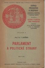 Vavřínek: Parlament a politické strany, 1930