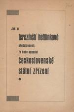 : Jak si terezínští heftlinkové představovali, že bude vypadat československé státní zřízení, 1945