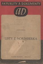 Drda: Listy z Norimberka : Knížka fejetonů, 1946