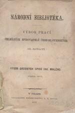 Malý: Výbor drobných spisů Jakuba Malého. sv. 1, 1872