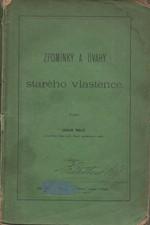 Malý: Vzpomínky a úvahy starého vlastence, 1872