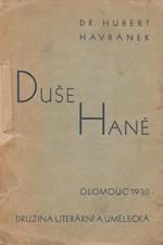 Havránek: Duše Hané : sbírka feuilletonů, 1930