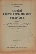 Andrlík: Stručné poučení o nepadělaných rukopisech, 1936