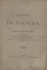 Durdík: Vzpomínka na Fr. Šimáčka, 1885