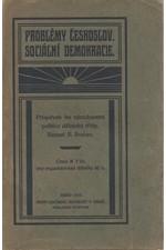 Burian: Problémy českoslov. sociální demokracie : Příspěvek ku národnostní politice dělnické třídy, 1910