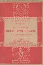 Herben: Duch demokracie. I, Část historická, 1920