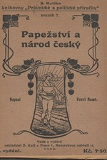 Farský: Papežství a národ český, 1920