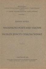 Beneš: Masarykovo pojetí ideje národní a problém jednoty československé, 1935