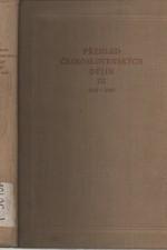 : Přehled československých dějin. Díl III, 1918-1945, 1960