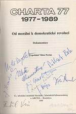 Prečan: Charta 77 : 1977-1989 : od morální k demokratické revoluci : dokumentace, 1990