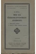Ripka: Boj za československou svobodu, 1928