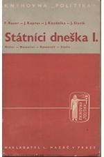 Bauer: Státníci dneška. První díl, Hitler-Mussolini-Roosevelt-Stalin, 1937