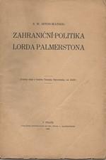 Seton-Watson: Zahraniční politika lorda Palmersona, 1929