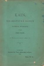 Byron: Kain : Dramatická báseň lorda Byrona, 1895