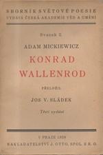 Mickiewicz: Konrad Wallenrod, 1928