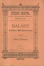 Mickiewicz: Balády Adama Mickiewicze, 1883