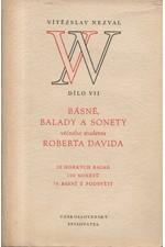 Nezval: Básně, balady a sonety věčného studenta Roberta Davida : 52 hořkých balad, 100 sonetů, 70 básní z podsvětí, 1953