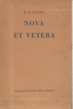 Šalda: Nova et vetera : Poesie, 1938