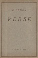 Leden-Lederer: Verše, 1919
