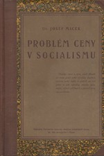 Macek: Problém ceny v socialismu, 1921