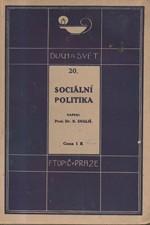 Engliš: Sociální politika, 1916