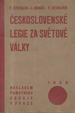 Šteidler: Československé legie za světové války, 1929