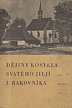 Renner: Dějiny kostela svatého Jiljí u Rakovníka, 1937