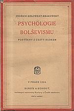 Kolowrat: Psychologie bolševismu, 1924