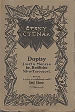 Mánes: Dopisy Josefa Manesa hr. Bedřichu Silva-Taroucovi, 1920