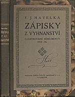 Havelka: Zápisky z vyhnanství, 1919