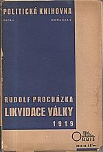 Procházka: Likvidace války 1919, 1935