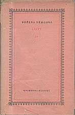 Němcová: Listy. II, 1952