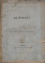 Krásnohorská: Ze Šumavy, 1873